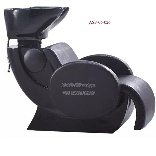 ASF-06-026 Black Color Shampoo Chair High Quality All Set Salon Furniture Price