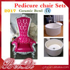 2017 hot sale king throne pedicure chair round pedicure bowl price, Pink spa pedicure chairs for sale