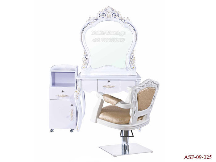 ASF-09-025 All Set Salon Furniture European Style Salon Mirror Station