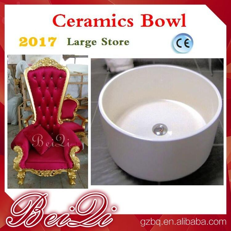 Wholesale Cheap Pedicure Throne Chair Ceramics Pedicure Bowl , Spa Pedicure Sinks Shower Parts