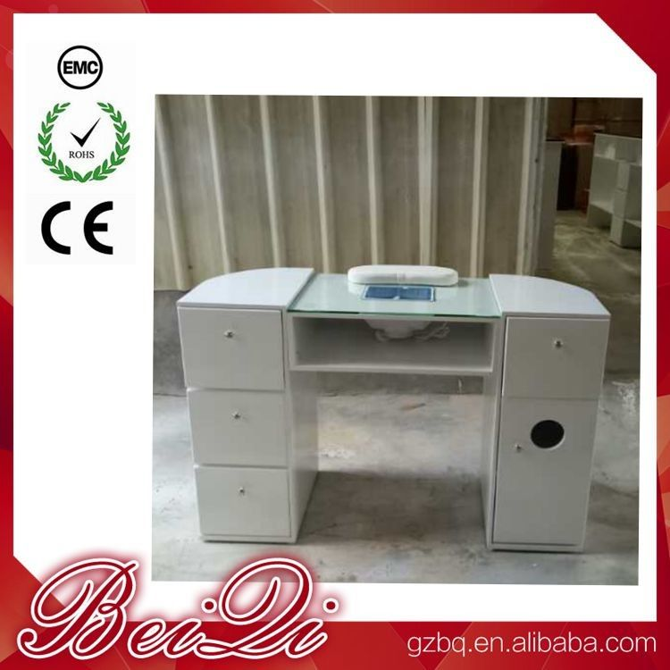 Beauty Nail Salon Equipment Wholesale Nail Manicure Table with Vacuum Cheap Manicure Station