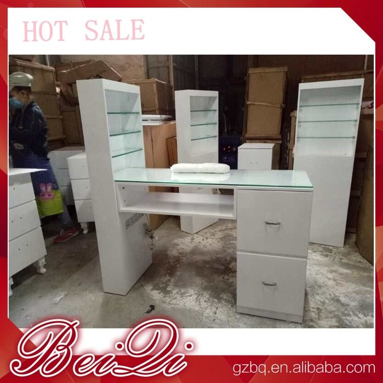 Modern manicure table vacuum and nail salon furniture cheap nail ...