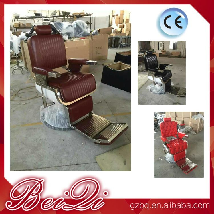 2017 hot hair salon furniture cheap barber chair price with parts black recline chairs
