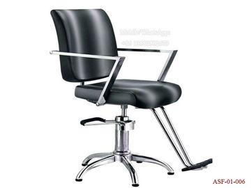 China ASF-01-006 New Salon Shop High Quality PU Leather Cushion Black Color Barber Chair distributor