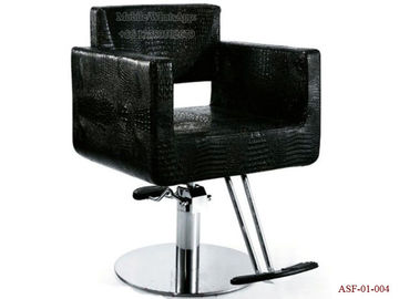 China ASF-01-004 Round Shape Stainless Steel Base Black Color Hydraulic Pump Styling Chair distributor