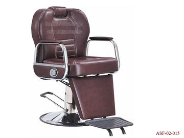 China ASF-02-015 Reclining Big Pump Hydraulic Brown  Barber Chair ,Salon Chair Wholesales distributor