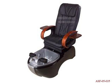 China ASF-05-035 Black Color Pedicure Chair with Glass Bowl ,Salon Furniture Pedicure Chair distributor