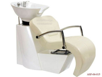 China ASF-06-015 Hydraulic Oil Pump Shampoo Chair Wash Unit with Moveable Ceramic Basin distributor
