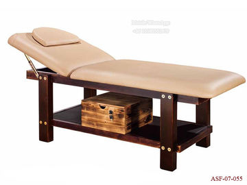 China ASF-07-055 Solid Wood Frame Leather Bed for Massage Salon Furniture Wholesales distributor