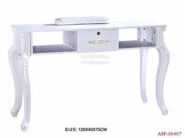 China ASF-10-017 Single Manicure Table White Color Salon Furniture Supplier distributor