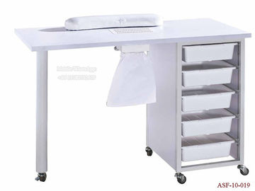 China ASF-10-019 Muti Layers Cabinet Nail Table with Four Wheels distributor