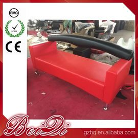 China 3 Seat Waiting Area Sofa Red Customers Chair Used Barber Shop Furniture Cheap Waiting Room Chair distributor