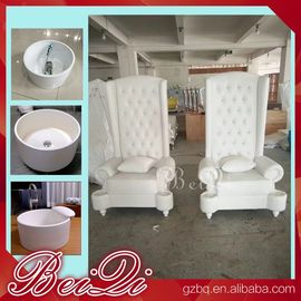Pedicure spa with high back throne chair comfortable luxury pedicure spa massage chair for nail