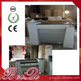 China Used Beauty Salon Furniture Front Desk Cheap Checkout Counter Luxury Reception Table distributor