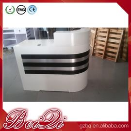 China white reception counter supermarket modern checkout counter reception desk beauty salon distributor