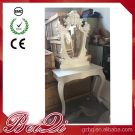 China Princess Salon Mirror for Barber Shop Furnture Wood Mirror Table Luxury distributor