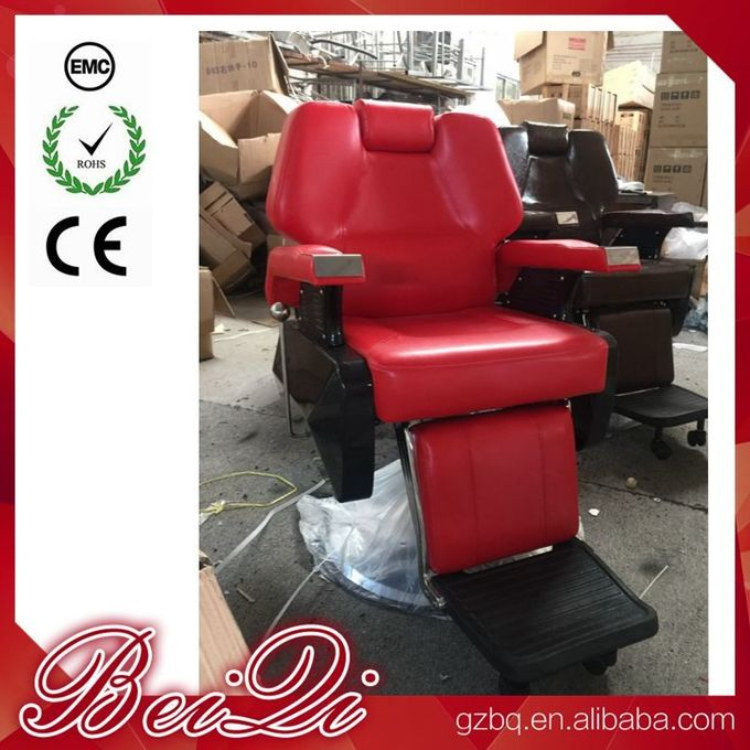 Big Pump Red BarberChairs Used Hair Styling Chairs Luxury Barber Shop Furniture