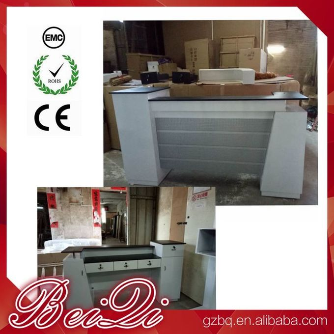 Used Beauty Salon Furniture Front Desk Cheap Checkout Counter Luxury Reception Table